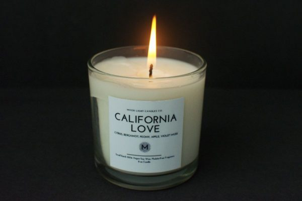 california love | soy wax candle | mood light candles